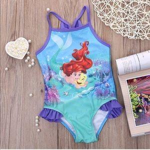 Disney little mermaid ruffle swimsuit one piece